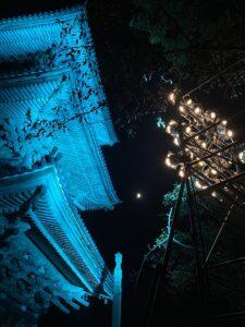ライトアップ 三重の塔