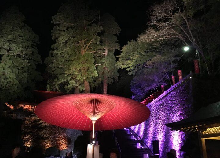 ライトアップ 安来清水寺     素晴らしき世界感